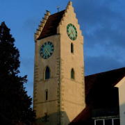 Kirchturm von Norden (Judith Keller)<div class='url' style='display:none;'>/</div><div class='dom' style='display:none;'>evang-ermatingen.ch/</div><div class='aid' style='display:none;'>5</div><div class='bid' style='display:none;'>3</div><div class='usr' style='display:none;'>3</div>